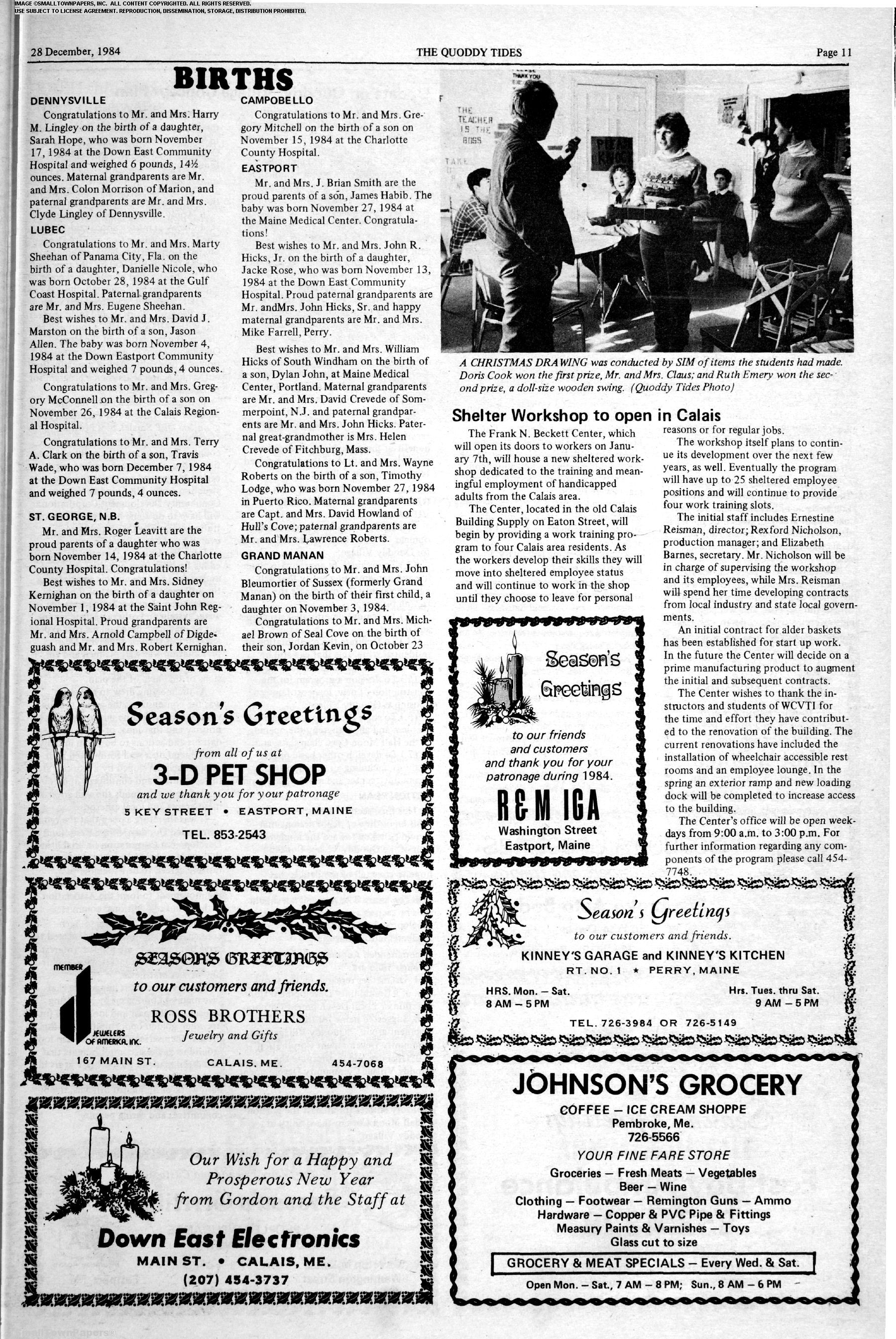 Quoddy Tides December 28, 1984: Page 11