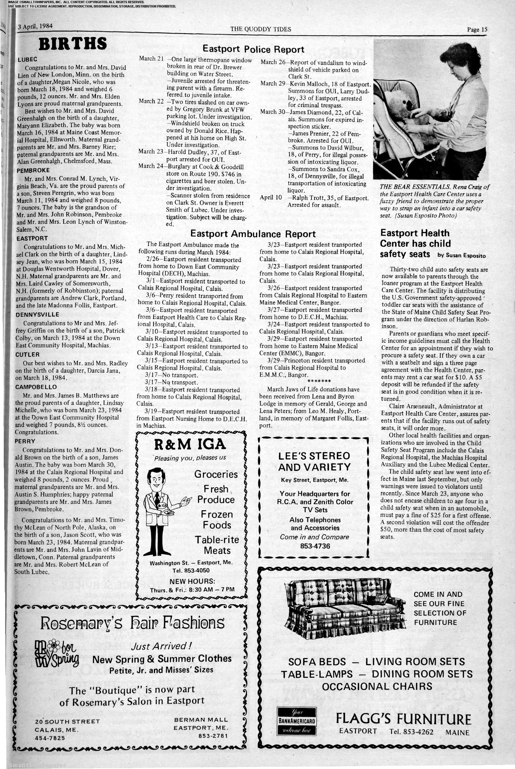 Quoddy Tides April 13, 1984: Page 15